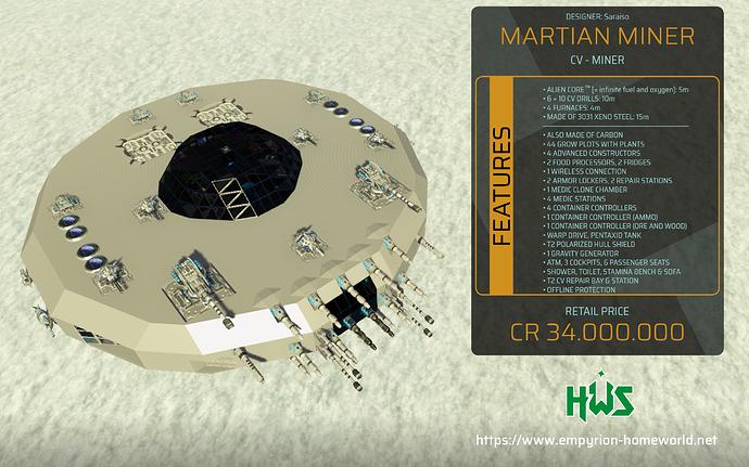 Garage CV M Martian Miner