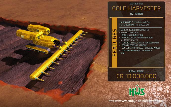 Garage HV M Gold Harvester